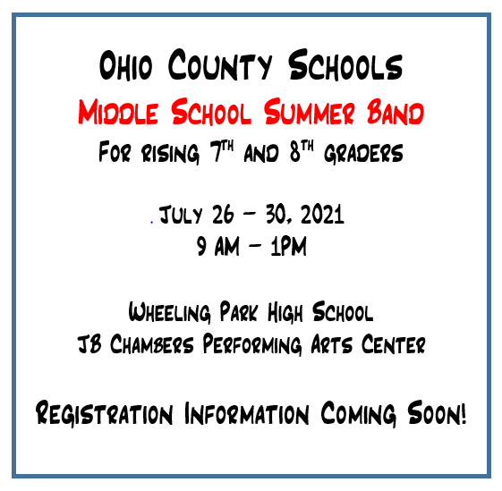 Middle School Summer Band